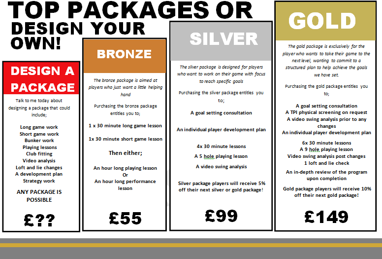 JS GOLF PACKAGE POSTERS 2020