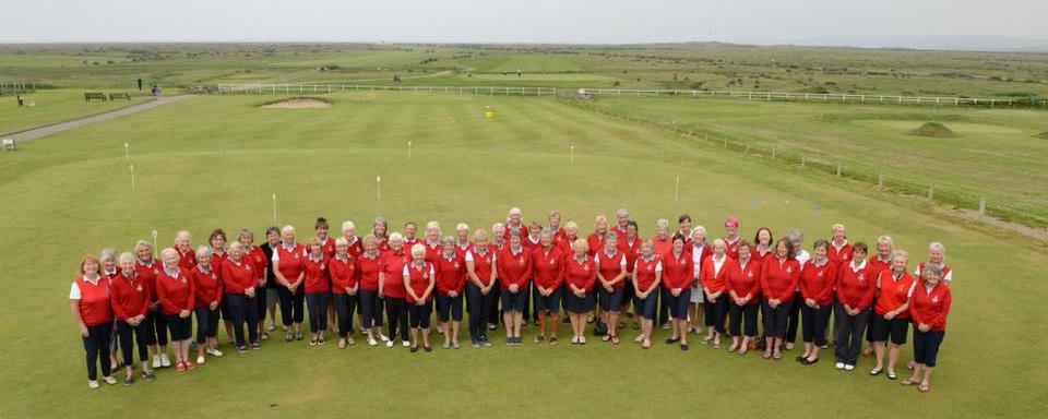 The Ladies 150th in red