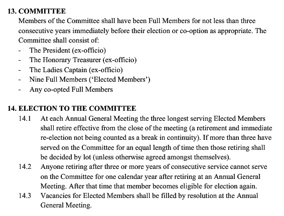 committee rules